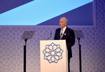 Tim Clark yesterday at a presentation to delegates of (BIE).JPG